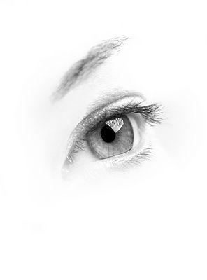 soft grey eye