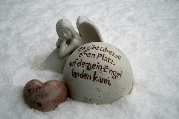 ....sogar im Schnee...