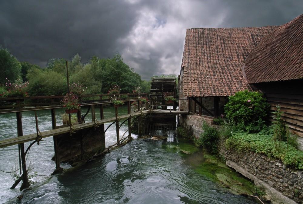 soir d' orage au moulin de maintenay
