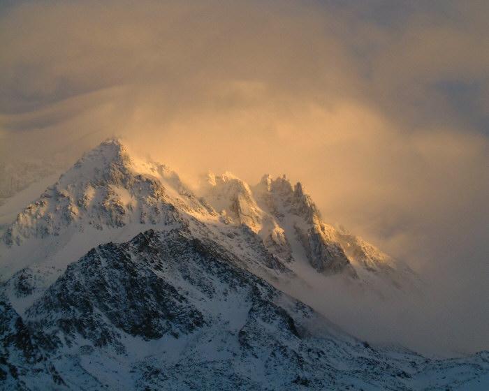 Soir de föhn sur Péclet - Val Thorens - Savoie