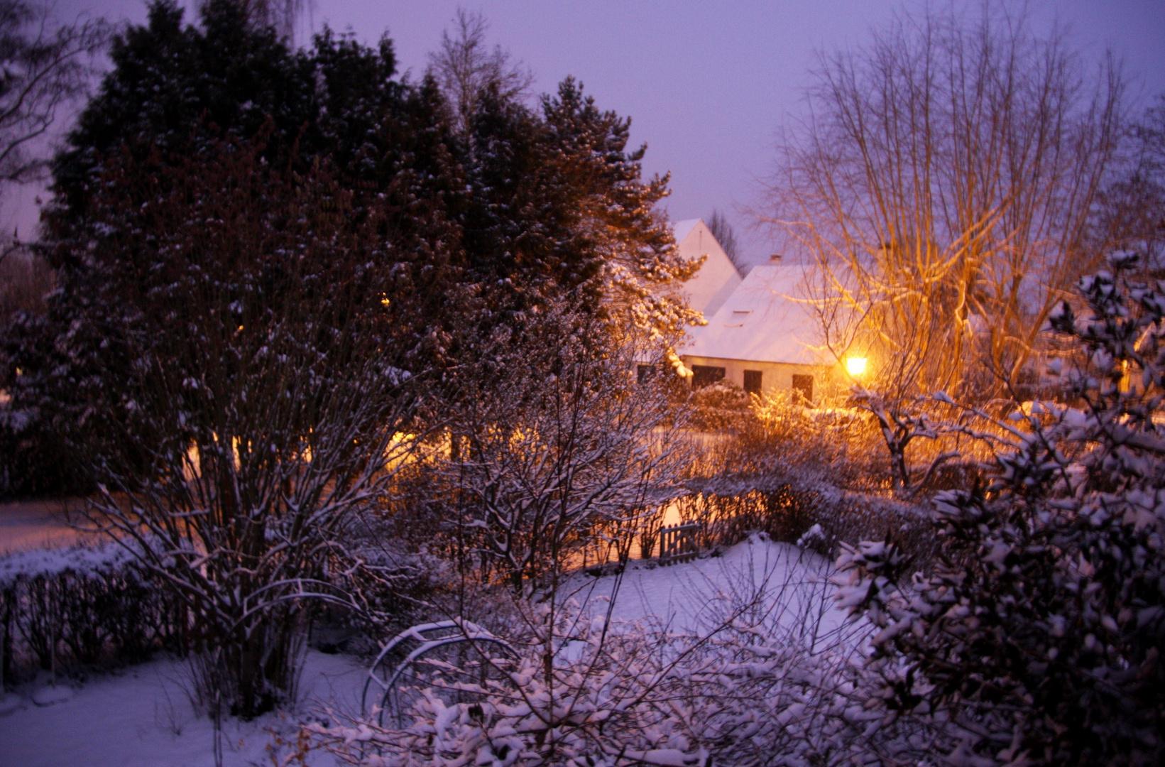 Soir de neige, février 2010