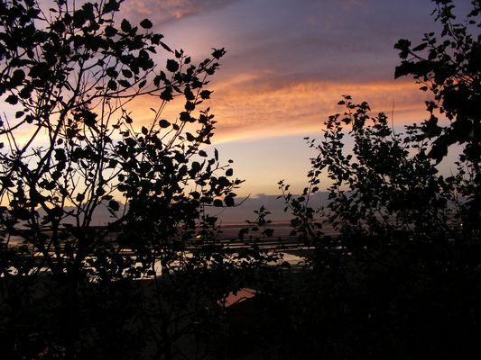 soiré sur plage du nord