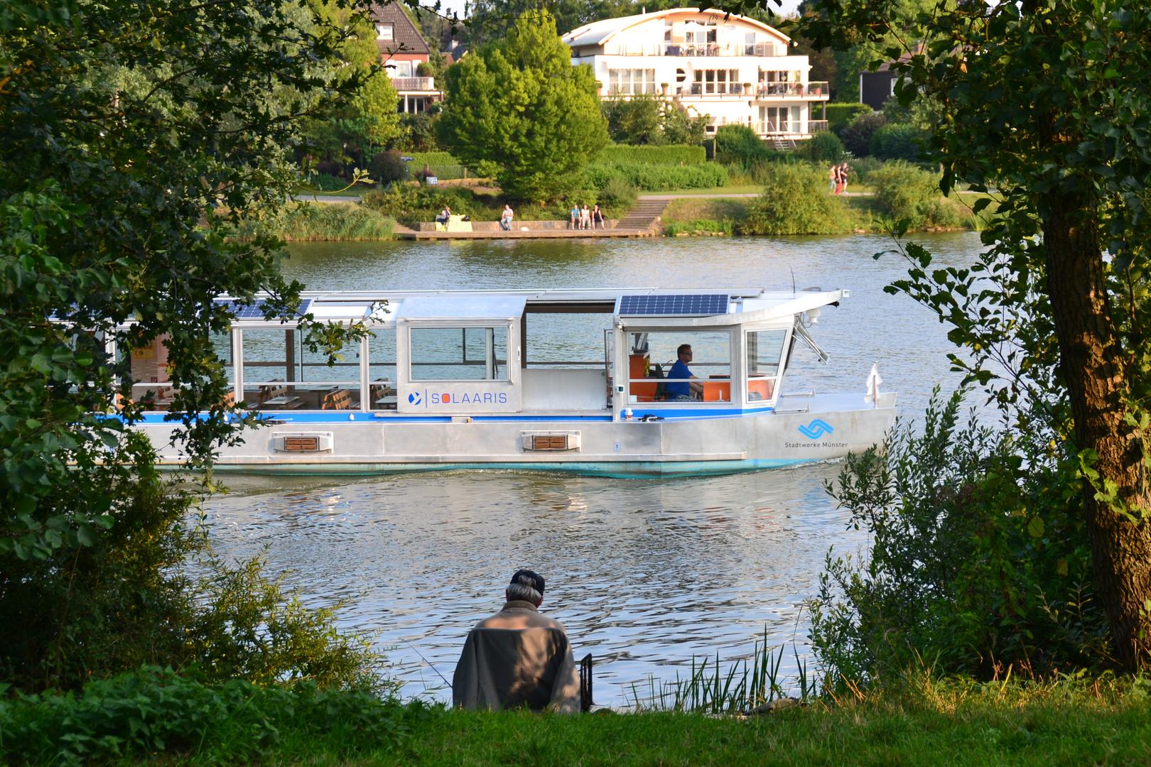 Solaaris, das neue Solarschiff auf dem Aasee in Münster