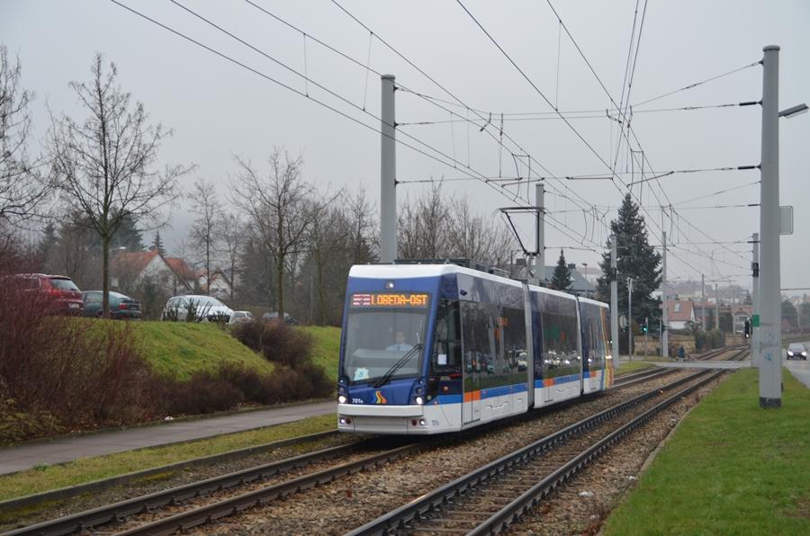 Solaris Tramino in Jena kurz vor der Hst Damaschkeweg