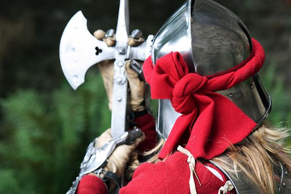 Soldat aus dem Mittelalter