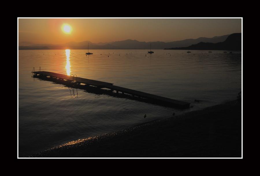 Sole sul pontile