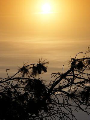 soleil couchant à l'envers
