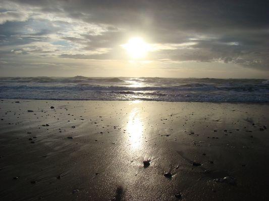 Soleil couchant sur l'île d'Oléron