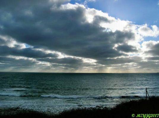 Soleil en mer