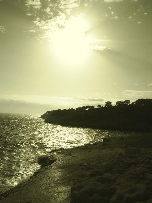 soleil face a la mer