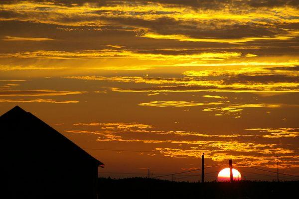 soleil orange....
