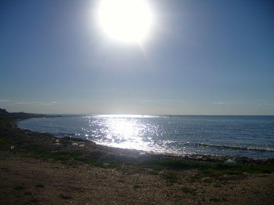 Soleil se couchant sur la Tunisie...