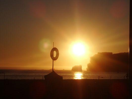 Soleil sur la mer
