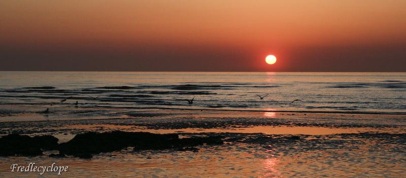 Soleil sur les plages de Normandie