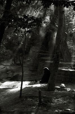 solitarily