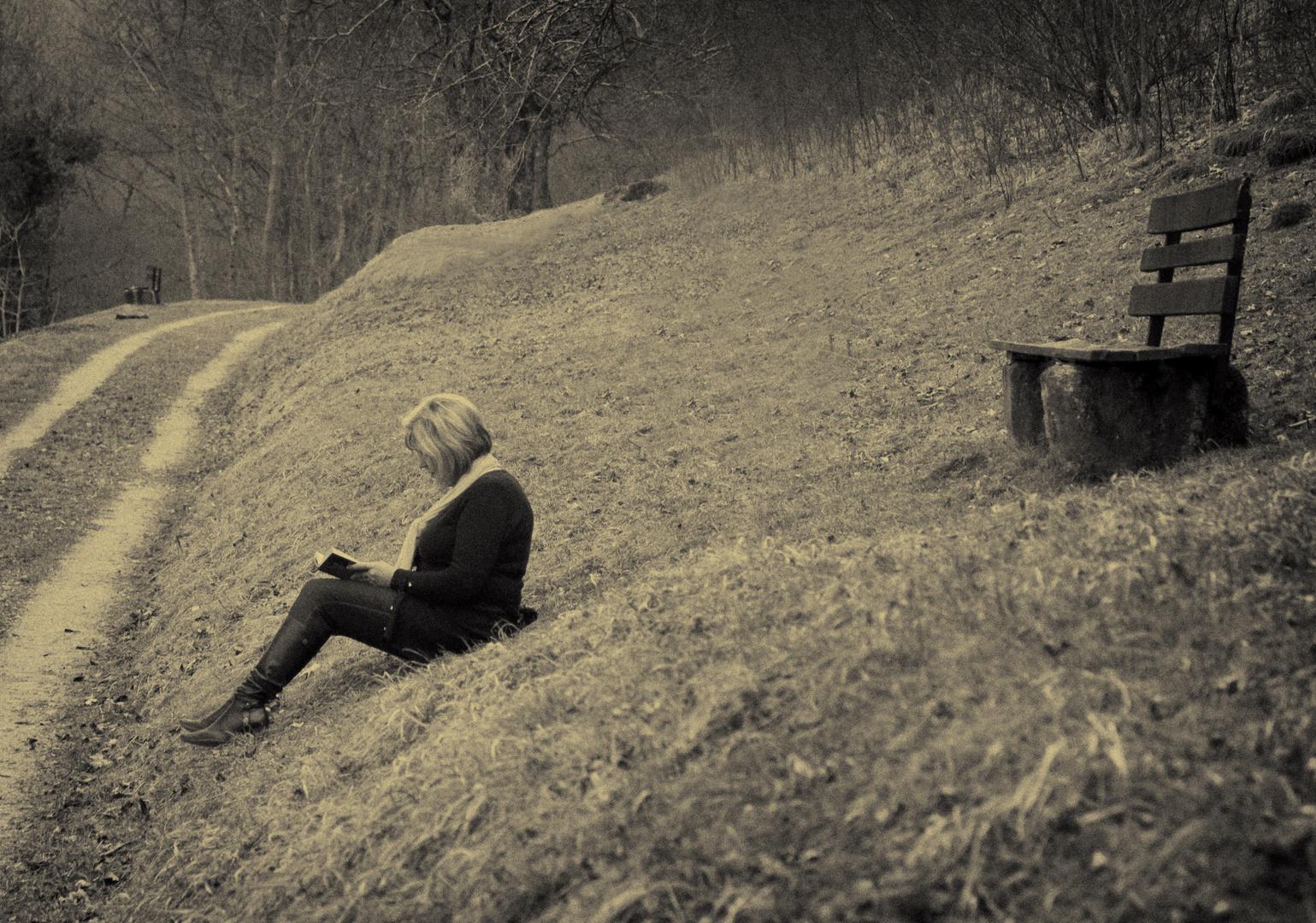 Solitude d'un banc - Einsamkeit einer Bank