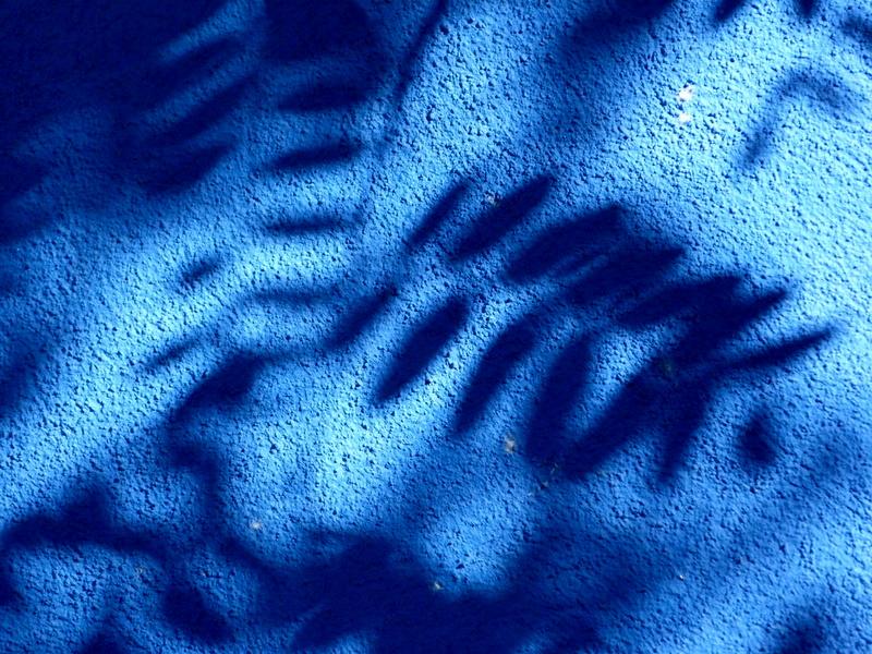 sombras de azul