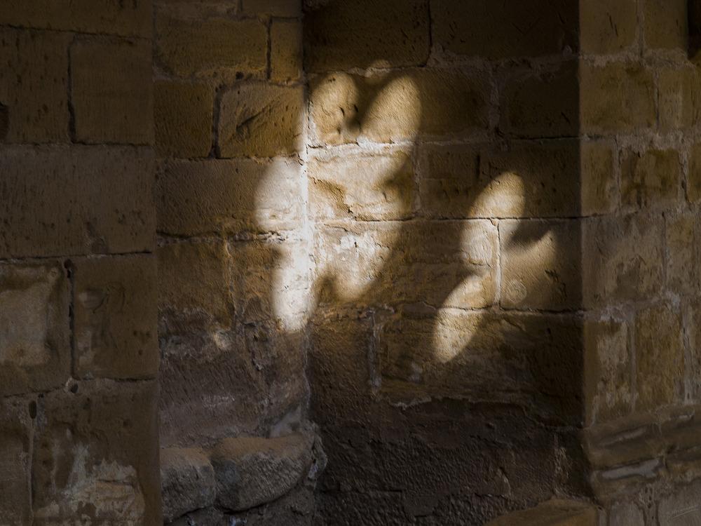 Sombras románicas Claustro Monasterio de Nuestra Señora de Rueda (Zaragoza Aragón)