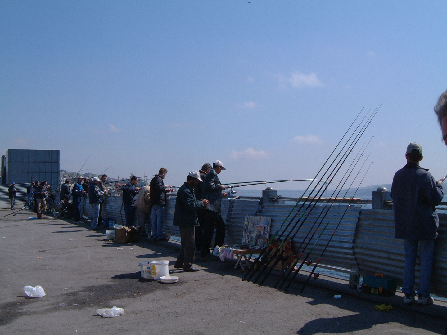 Some fisherman on Galata Bridge (Galata Köprüsü)
