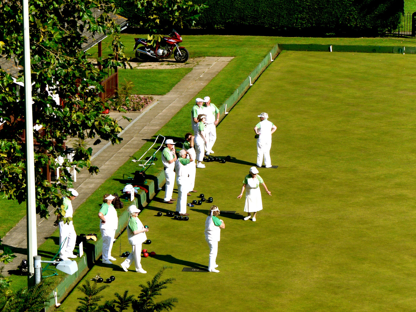 Some Residents of Rye at their Saturday's Bowling Green