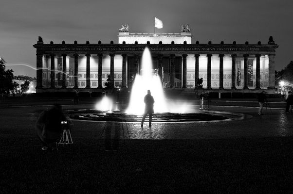 Someone in the fountain - Berlin festival of light 2011