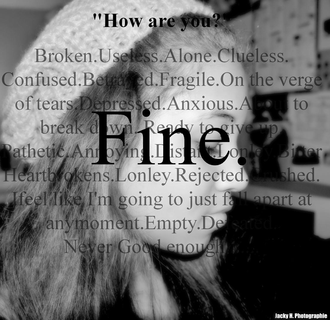 Sometimes I feel like..