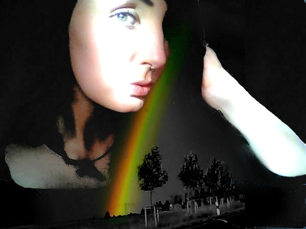 sometimes i have to touch a rainbow , to erase my monochromacity