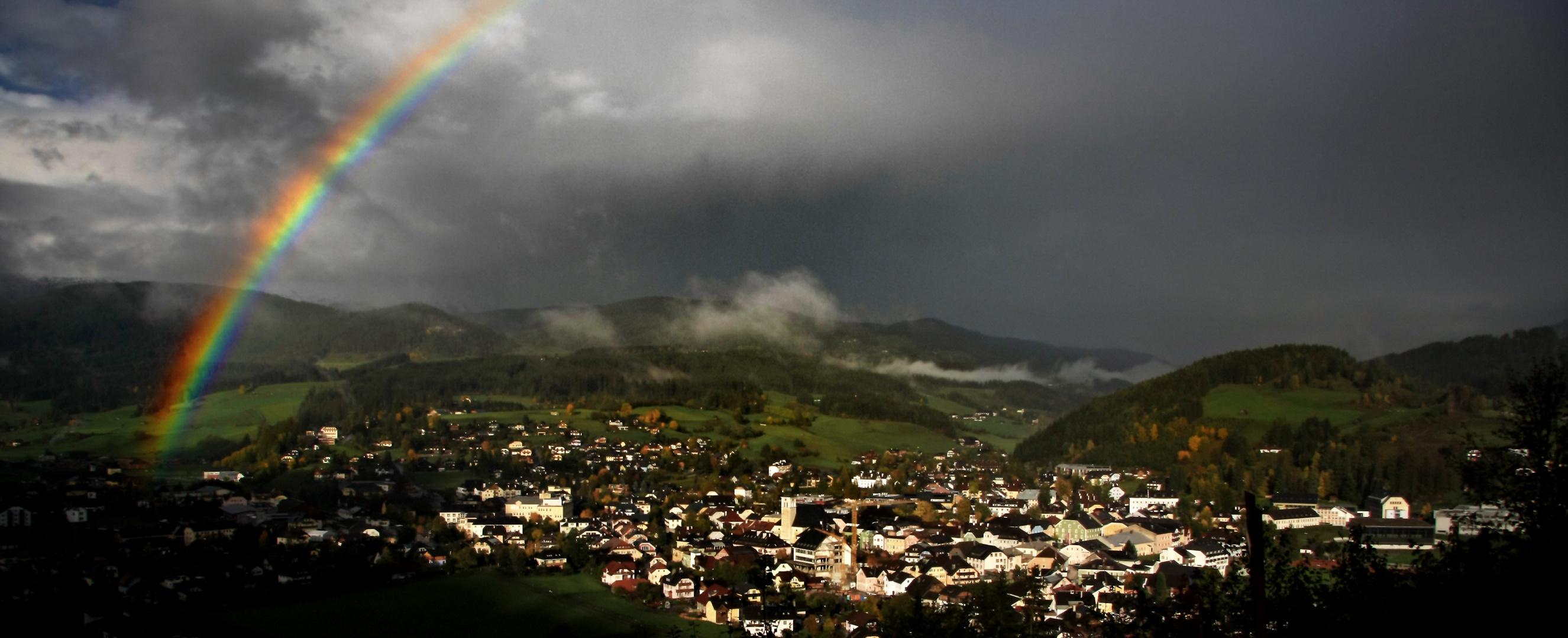 Somewhere over the rainbow .. Regenstimmung im Salzburger Lungau