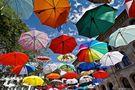 Sommer ist, wenn Regenschirme vor Freude fliegen von Markus Peerenboom