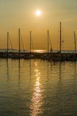 Sommerabend am Hafen von Timmendorf auf Poel