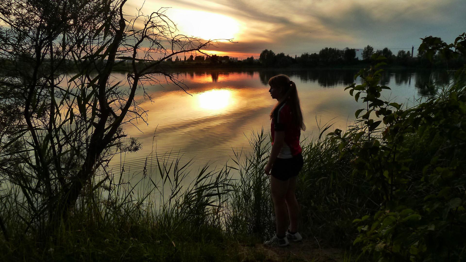 Sommerabend am Hufeisensee