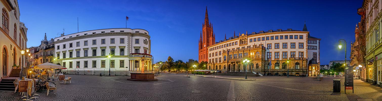 Sommerabend in Wiesbaden