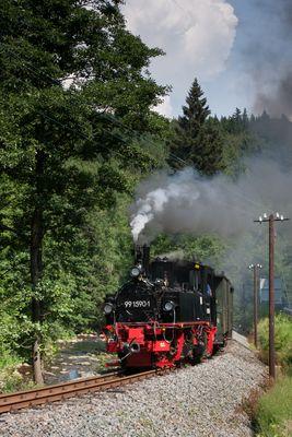 Sommerfahrt auf der Preßnitztalbahn