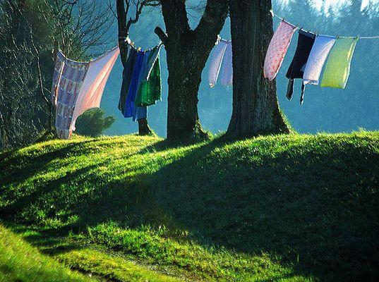 Sommerfrische Wäsche