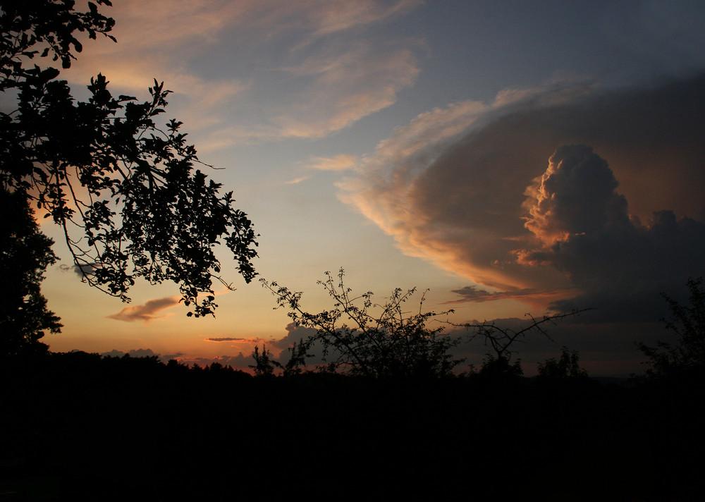 Sommerliches Wolkengebilde.