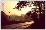 Sommermorgen am Niederrhein (Landschaft mit Automobil, 2)