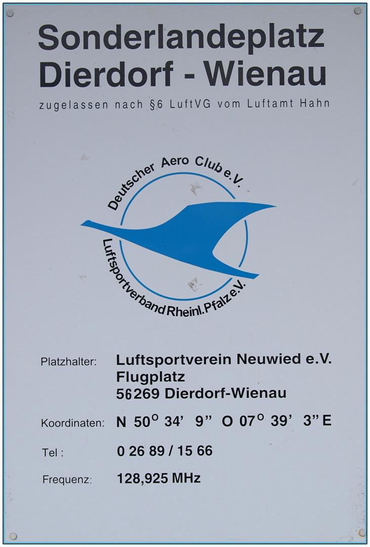 Sonderlandeplatz Dierdorf-Wienau