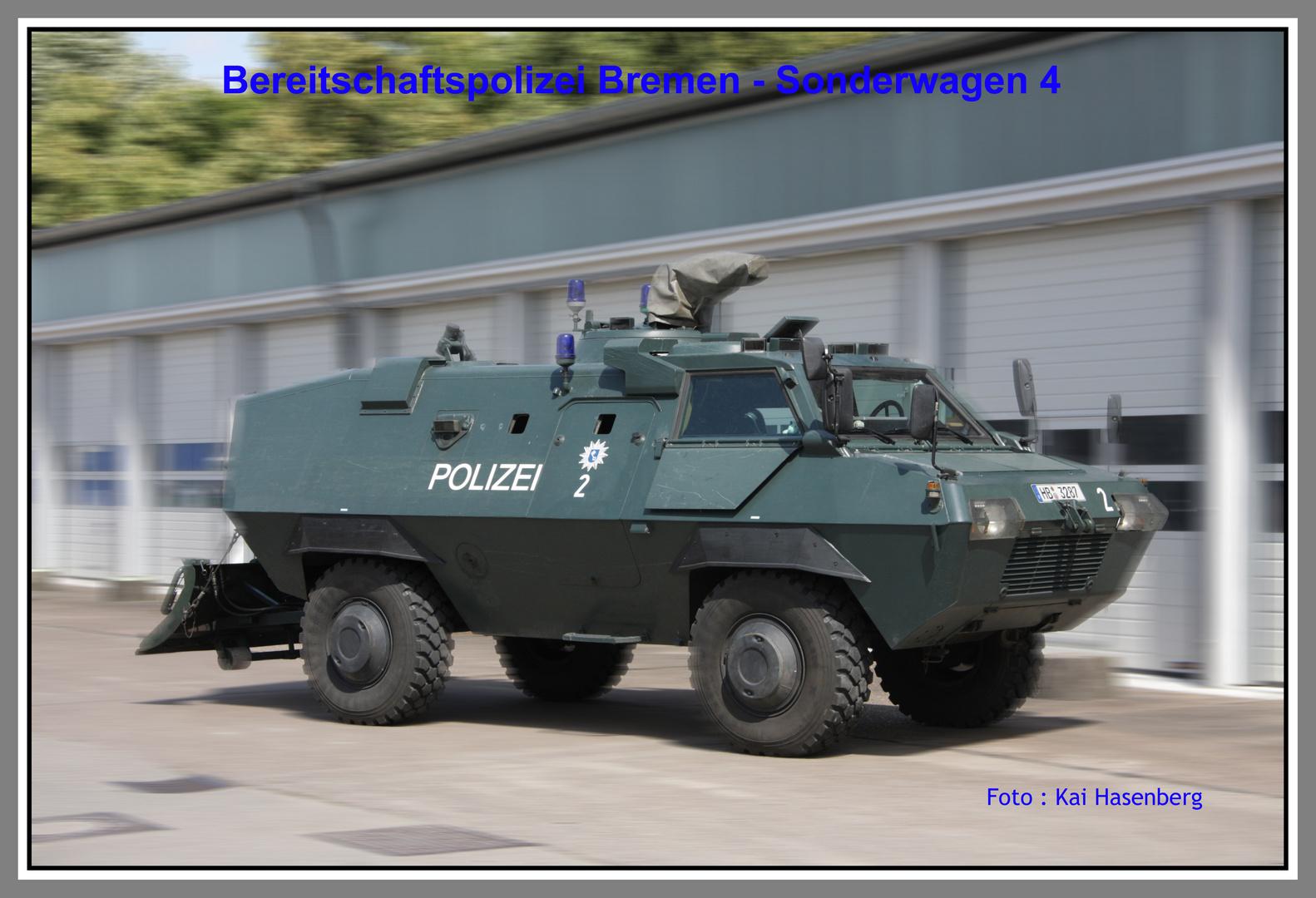 Sonderwagen 4 der Polizei Bremen
