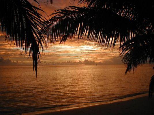 Sonenuntergang auf den Malediven