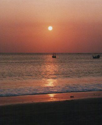 Sonne, 2 Schiffe und der Strand (ganz einfach!)