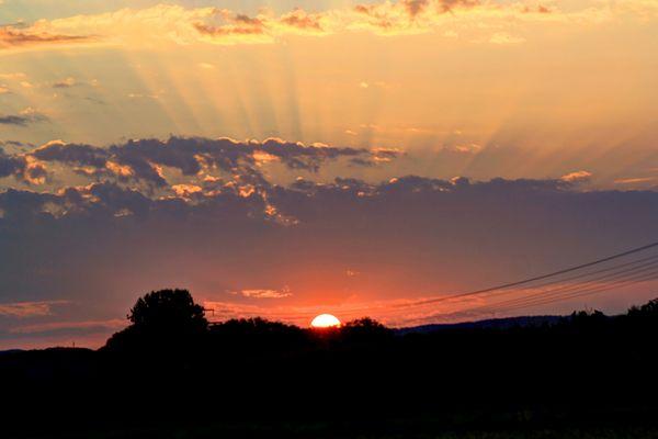 Sonne am frühen Morgen