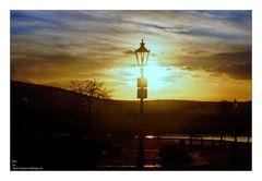 Sonne an der Weser