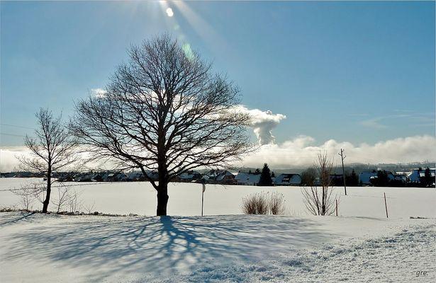 Sonne auf Schnee