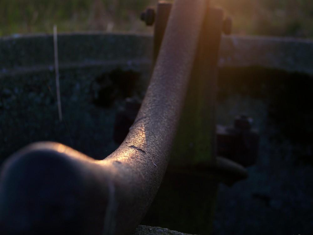 Sonne auf Stahl