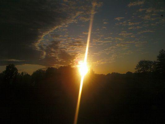 Sonne-Himmel-Lichtrahl
