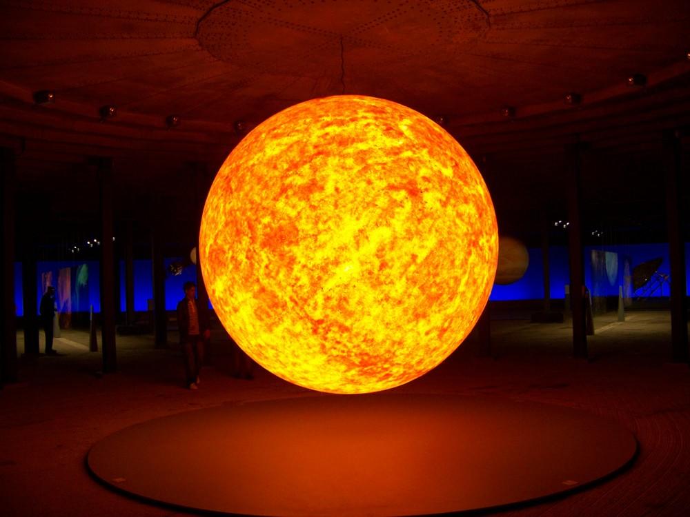 Sonne im Gasometer Oberhausen