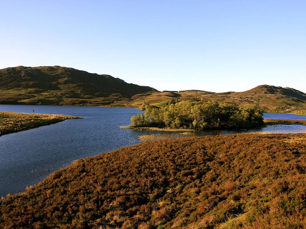 Sonne in den Highlands