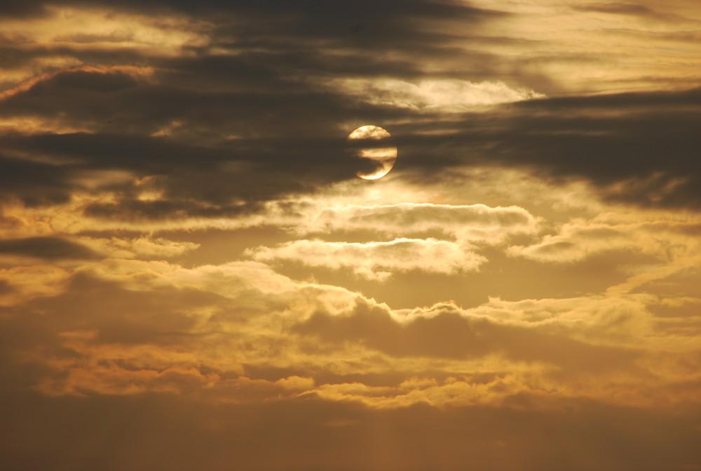 Sonne in der Deckung