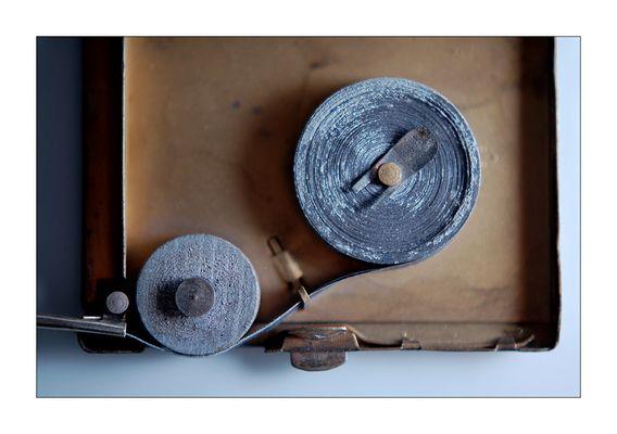 sonne in der westentasche - aufgerolltes magnesiumband