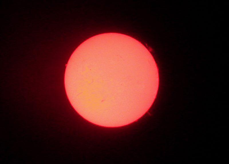 Sonne in h alfa vom 31.7.03 18:45